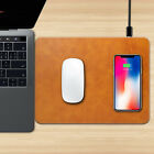 Luxury Fast Charging QI Wireless Charger Mouse Pad Mat For iPhone X/10 8 8 Plus