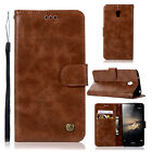 Luxury Flip Wallet Stand Card Slot Wax PU Leather Cover Case For Lenovo VIBE P1