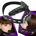 Restraint Leather Silicone Mouth Gag Harness Couple Game Bongdage Oral Plug XH