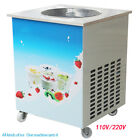 Commercial Single Round Pan Fried Ice Cream Roll Machine Milk Yogurt Machine GG