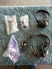 Lot of 6 differnt sets of headhones and headsets