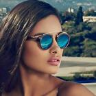 GATSBY Double Bridge Round Sunglasses Women Men Fashion Aviation Mirror Sun glas