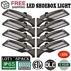 LOT 1~8pcs 150W LED Dusk to Dawn Shoebox Light for Parking Lot Street Light EO