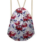 Fashion Drawstring Bags Women Floral Design Gym Shoulder Purse Girls Sport Bags
