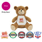 Personalised Name Fathers Day Philip Teddy Bear Presents Gifts for Dad Grandad