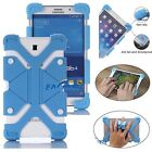 """US Blue Universal Case Kids Safe Shockproof Silicone Cover For 8""""~9"""" inch Tablet"""
