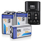 280mAh 9V 6F22 Rechargeable Ni-MH Batteries 9 Volt Battery Charger for Toys RC