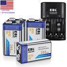 280mAh 9V 6F22 Rechargeable Ni-MH Battery 9 Volt Batteries Charger for Toys RC