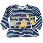 Mud Pie Little Girls Animal Parade Sweatshirt Dress 12M-5T #1152074