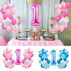 21pcs 1st Birthday Foil Balloons Party Decor Set Number Baby