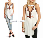FREE PEOPLE Sz SMALL Around The World Tee Top New Tags