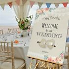 Personalised Wedding Sign / LACE & BURLAP-3 SIZE/ 3 MATERIAL OPT. LACE BUNTING