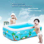US Baby's Underwater Printed Inflatable Aerated Square Newborn's Swimming Pool