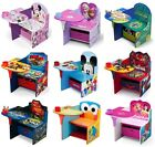 Present Kids Set Chair Desk Children Activity Play Study Storage Coach Cartoon