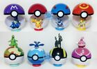 9 Pokemon pokeball pop-up 7cm juguete de dibujos animados de bolas de plástico