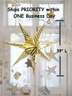 "IKEA HUGE 39"" Strala Star Pendant Hanging Light WITH PLUG & CORD GOLD or WHITE"