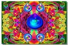 Poster Psychedelic Trippy Colorful Ttrippy Surreal Abstract Astral Art Print 43