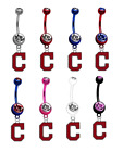 Cleveland Indians C Logo Baseball Belly Navel Ring Piercing - Pick Color - NEW on Ebay