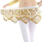 New Chiffon Belly Dance Hip Scarf 3 Rows Coin Belt Skirt GN HL