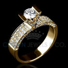 2.1 Carat Diamond Wedding Ring H VVS Enhanced Solitaire With Accents
