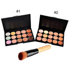 15 Colours Concealer Palette #1,#2 kit Face Makeup Contour Cream With Brush UK