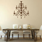 Vintage Ceiling Lamp Chandelier Vinyl Wall Sticker Decal Light Candle Home Decor