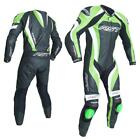 RST 2041 Tractech Evo 3 III Motorcycle Leather One Piece Suit Green Ce Approved