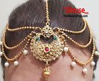 Indian Tikka Jewellery Bollywood Style Head Chain Tikah Hair Head Gold  Plated