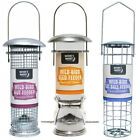 Deluxe Polished Steel Wild Bird Nut, Seed & Suet Ball Feeders - Singles or All 3