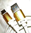 HIGH SPEED LEATHER USB Type C 3.1 CABLE CHARGER HUAWEI P9 P10 PLUS MATE 9 10