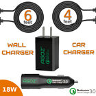 Qualcomm 3.0 Certified Fast Home + Car Charger With Type-C USB Cable For Asus