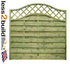 Arched Trellis Continental Fence Panel Omega 33 6ft wide x 3ft,4ft,5ft & 6ft (h)