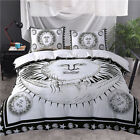 Twin Full Queen King Bed Set Pillowcase Quilt Cover oAUR Black White Apollo tys