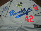 Brooklyn Dodgers Throwback #42 Jackie Robinson Majestic special edition Jersey