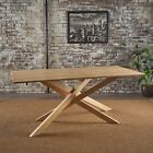 Gallow Mid Century Modern Nautral Finished Wood Dining Table