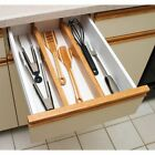 Lipper Bamboo Custom Fit Drawer Dividers - Set of 2 - 17.375D in., 2