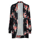 Fashion Women's Retro Floral Bomber Jacket Baseball Casual Coat Outwear Blouse