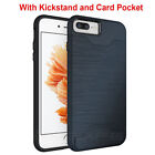 For Apple iPhone 7 / 7 Plus Heavy Duty Armor Hybrid Card Holder Stand Case Cover