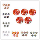 10Pcs Polish Charms Carve Crystal Flying Saucer Spacer Beads DIY Jewelry Finding