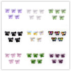 10/40Ps Butterfly Charms Glass Crystal Jewelry Bracelet Spacer Pendant Bead 14mm