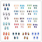 Wholesale Charms Faceted Teardrop Pendant Spacer Beads Earring Findings 6x12mm