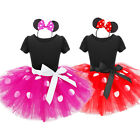 baby girl minnie mouse costume - Minnie Mouse Toddler Baby Girl Tulle Dress+Headband Party Birthday Fancy Costume