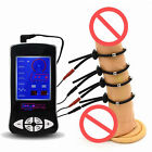 Electro Shock Kit Adjustable E-Stim Ring With Steel Ball Men Therapy Device