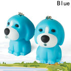 Blue Yellow Brown Plastic Dog Puppy Keychain Key Chain LED Light Up With Sound