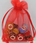25/50/100Pcs Organza Jewelry Candy Packing Pouch Gift Bags Wedding Party Favors