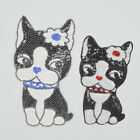 cute pet Dog Embroidered cloth Iron on patch sewing applique Sequins DIY Motif