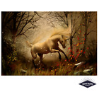 Mystical Forest Fantasy Unicorn Poster Quality Print 260gsm Premium Poster Paper