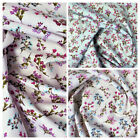 100% Cotton Fabric Metres Curtains Craft Patchwork Sewing Floral Heather Blossom
