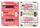 2018 A5 Organiser with Magnetic Closer in Typographic Design - Pink and White x1