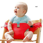CA Portable Baby High Chair Booster Safety Seat Strap Harness Dining Seat Belt E